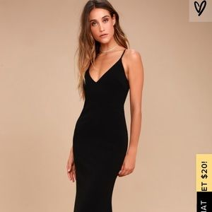Lulu's Full Length Black Dress